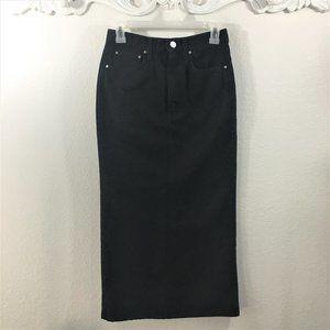 Toteme Skirts - Toteme Bitti Denim Black Midi Skirt NWOT